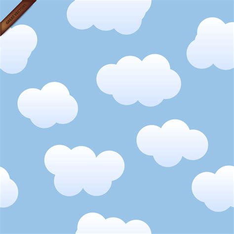 Cloud Background Check Seamless Vector Clouds Background Vector