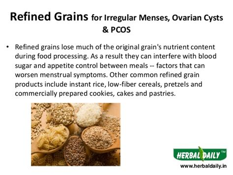 whole grains pcos foods to eat avoid in irregular menses overian cysts