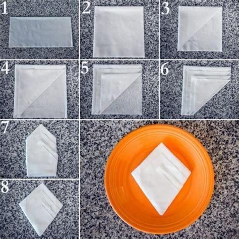 Paper Napkin Folding Directions - paper napkin folding create festive