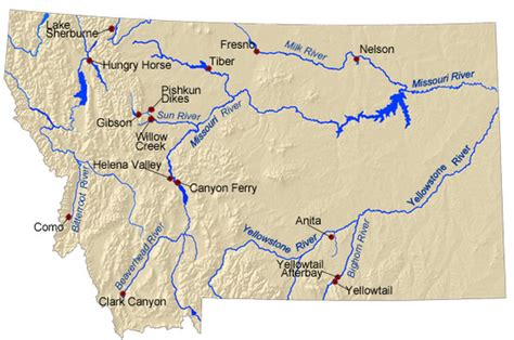 map of rivers in montana montana articles