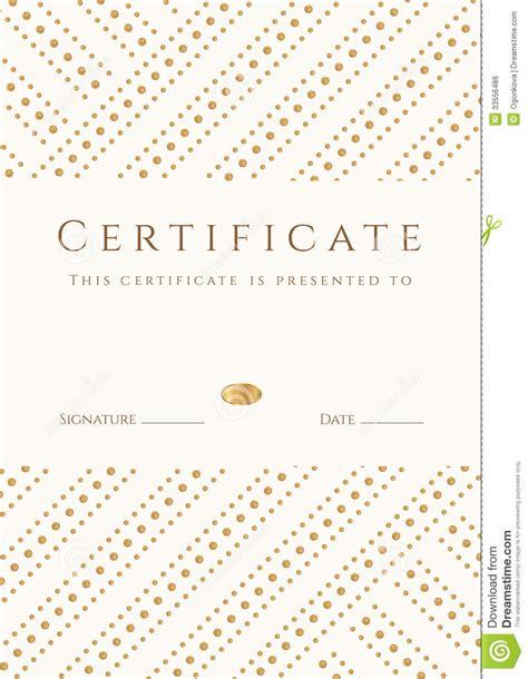 golden pattern award certificate diploma template gold award pattern stock