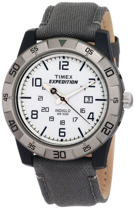 rugged analog timex expedition rugged analog gray green canvas t49864 s direct