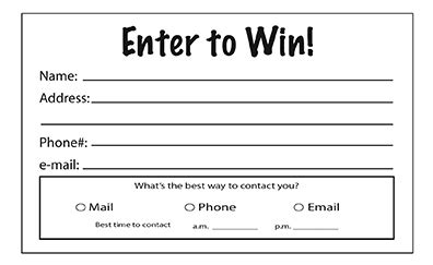 Enter To Win Pads Prize Draw Terms And Conditions Template
