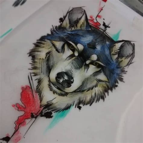 watercolor wolf tattoo designs 46 unique wolf tattoos ideas