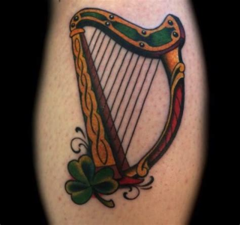 harp tattoo search harp design ink