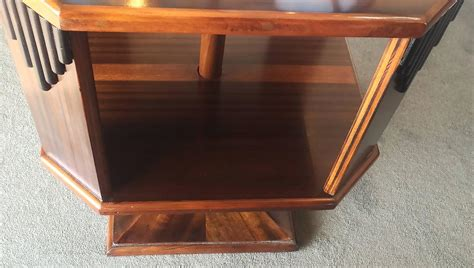 deco small table top revolving bookcase at 1stdibs