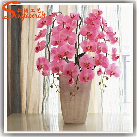 New Bunga Terbaru Bunga Artificial Flower Plastik Hias Anggrek Orchi 2 pabrik wholeasale palsu murah buatan plastik kupu kupu anggrek merah anggrek dendrobium bunga