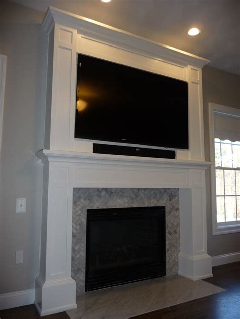 Tv Above Fireplace Mantel by 1000 Images About Tv Mounted Above Mantle On