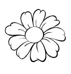 flowers coloring flower flower outline coloring page