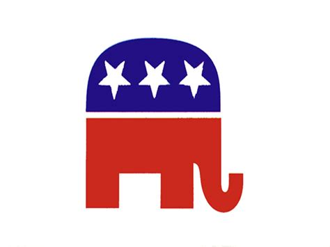 Fun Wall Stickers republican elephant flag flags international