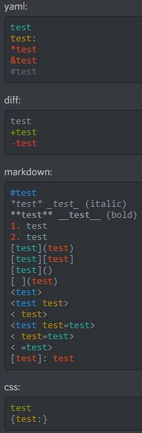 discord text color markdown text 101 chat formatting bold italic