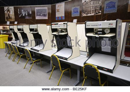 Records Northern Ireland Microfiche Library With A Drawer Open Stock Photo Royalty Free Image 6884266 Alamy