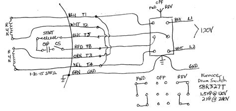 ac motor wiring diagram capacitor circuit and schematics