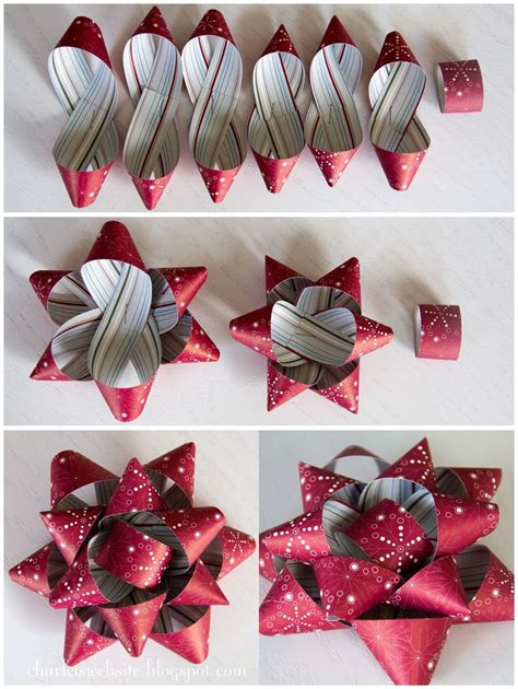 How To Make A Bow With Wrapping Paper - gift paper bows tutorial charlet s website diy