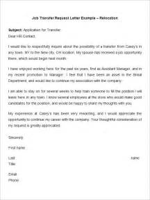 Transfer Request Letter Due To Marriage Transfer Cover Letter