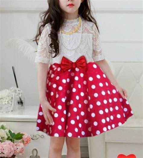 Polkadot Dress Anak Perempuan Baju Cewek Lucu Gaun Pesta Dres dress anak perempuan motif polkadot cantik model terbaru