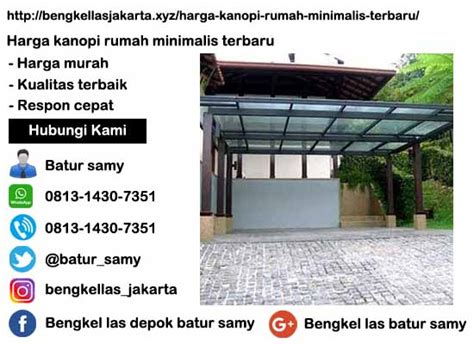 Harga Kanopi Rumah Minimalis Terbaru Di Jakarta Timur
