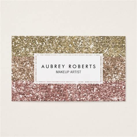 sparkle design business card templates ombre pink gold glitter girly business cards zazzle