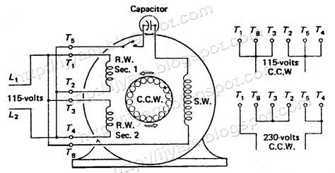 capacitor start electric motor schematic get free image