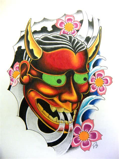 death mask tattoo designs hannya mask by paulschulz on deviantart