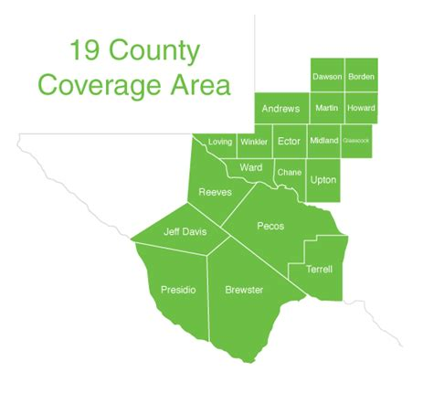 west texas county map how to get help west texas food bank