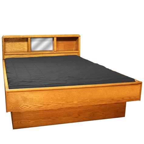 water bed frame tulip headboard wood frame waterbed