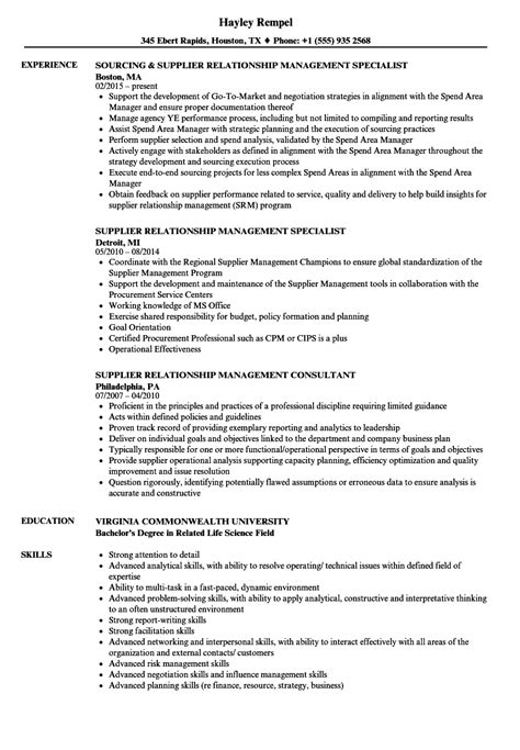 Vendor Relationship Manager Sle Resume by Resume Sle 2015 Philippines Curriculum Vitae Layout