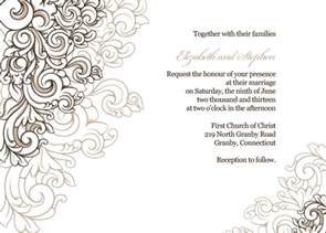 Borders For Invitations Template by Scrolling Border Invite Wedding Invitation Templates