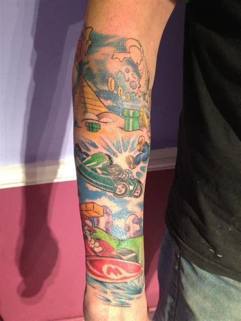 mario kart tattoo mario kart sleeve mario kart photo 32250665