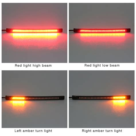 led turn signal lights universal led motorcycle brake lights turn signal