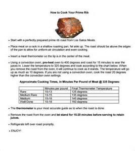 sle prime rib temperature chart 6 documents in pdf