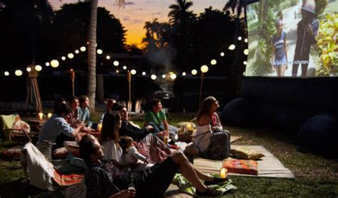 backyard movie night rental backyard movie party rentals outdoor furniture design