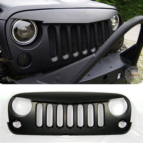 jeep grill logo angry front matte black angry bird grille grid grill when jeep