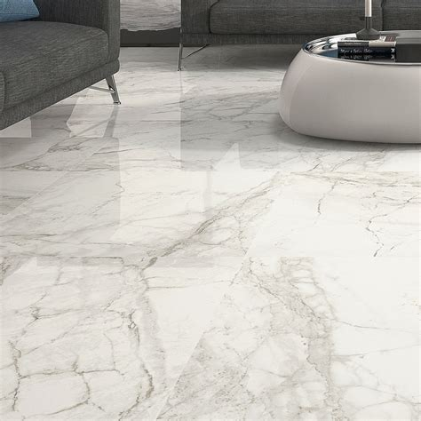 Large Format Rectified Porcelain Tile From Blackandwhiletile Countertops Large Format Luni Blanco Polished Porcelain Rectified Floor Tile Patterns For Small Bathroom