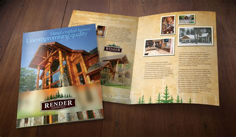 large brochure home construction brochure design company
