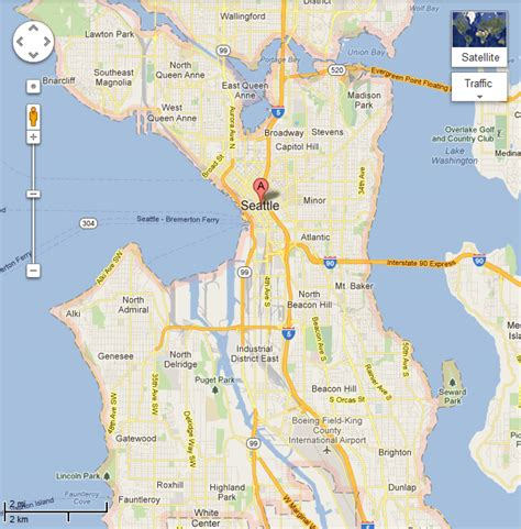 seattle map of usa seattle usa map