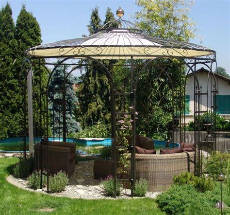 Gartenpavillon Aus Metall Rund