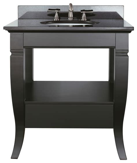vanity combo black granite top contemporary