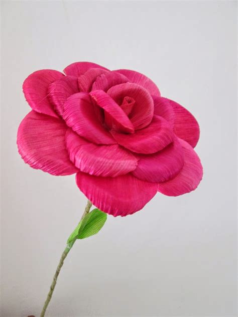 tutorial membuat bunga dari kertas jagung 100 bunga tulip dari kulit jagung seni kreatifitas bunga