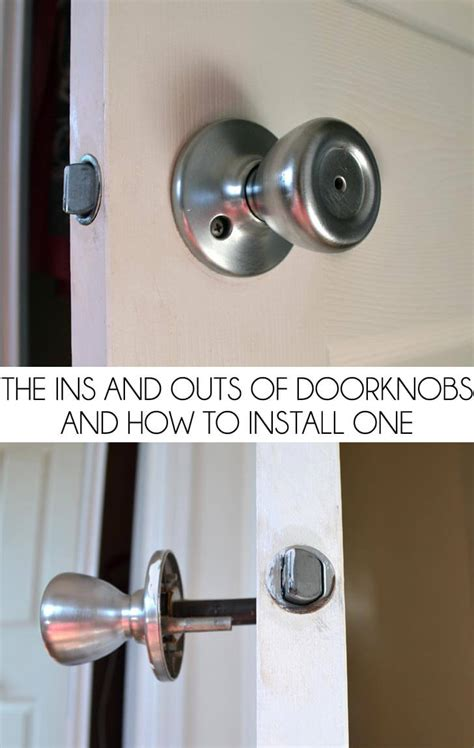 Remove Exterior Door Knob The Ins And Outs Of Doorknobs And How To Install One A Bigger