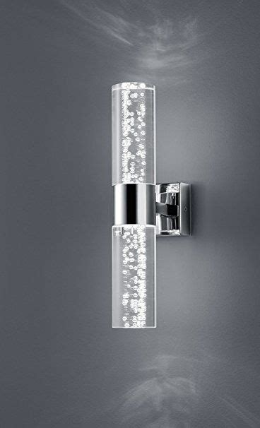 argos led pin bubble trio leuchten led bathroom wall light chrome clear acrylic with bubbles 282410206 co