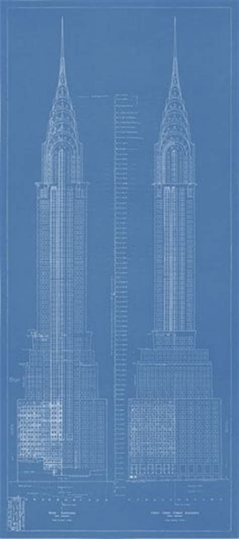 Chrysler Building Blueprint by 1000 Ideas About Chrysler Building On New