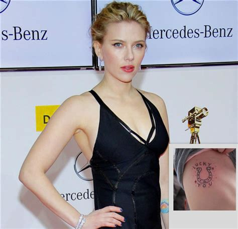 scarlett johansson tattoos johansson tattoos pictures images pics photos of