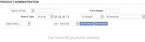 admin product settings for dreamweaver responsive designs