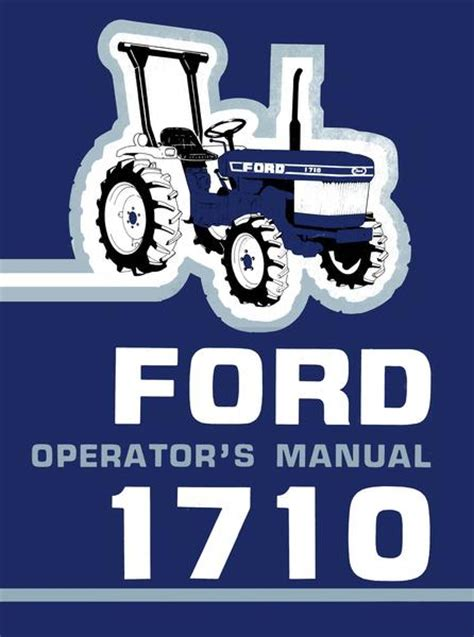 Ford 1710 Tractor - Operator's Manual K 1710
