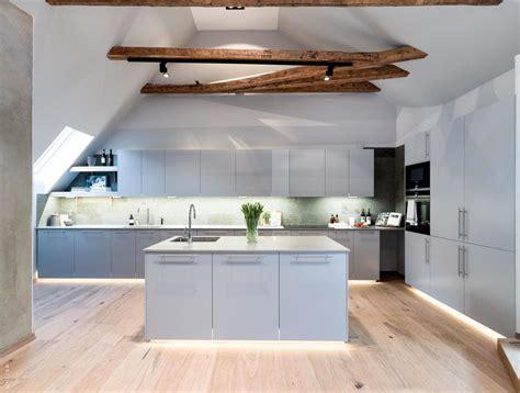 scandinavian attic apartment  wood floors  warm