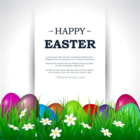 happy easter card template happy easter card template free 123freevectors