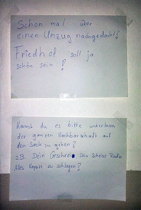 Beschwerdebrief Nachbar Muster Berliner Nachbarschaft Auszug Aus Dem Allt 228 Glichen Wahnsinn Notes Of Berlin