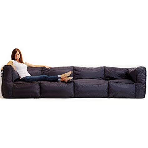 big joe sofa big joe zip modular sofa stretch limo black 3