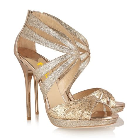 gold bridal heels s gold heels wedding shoes sparkly open toe stiletto